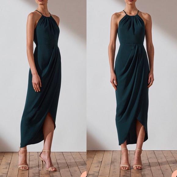 choose original Super discount special buy Shona Joy Core High Neck Ruched Dress- Seaweed